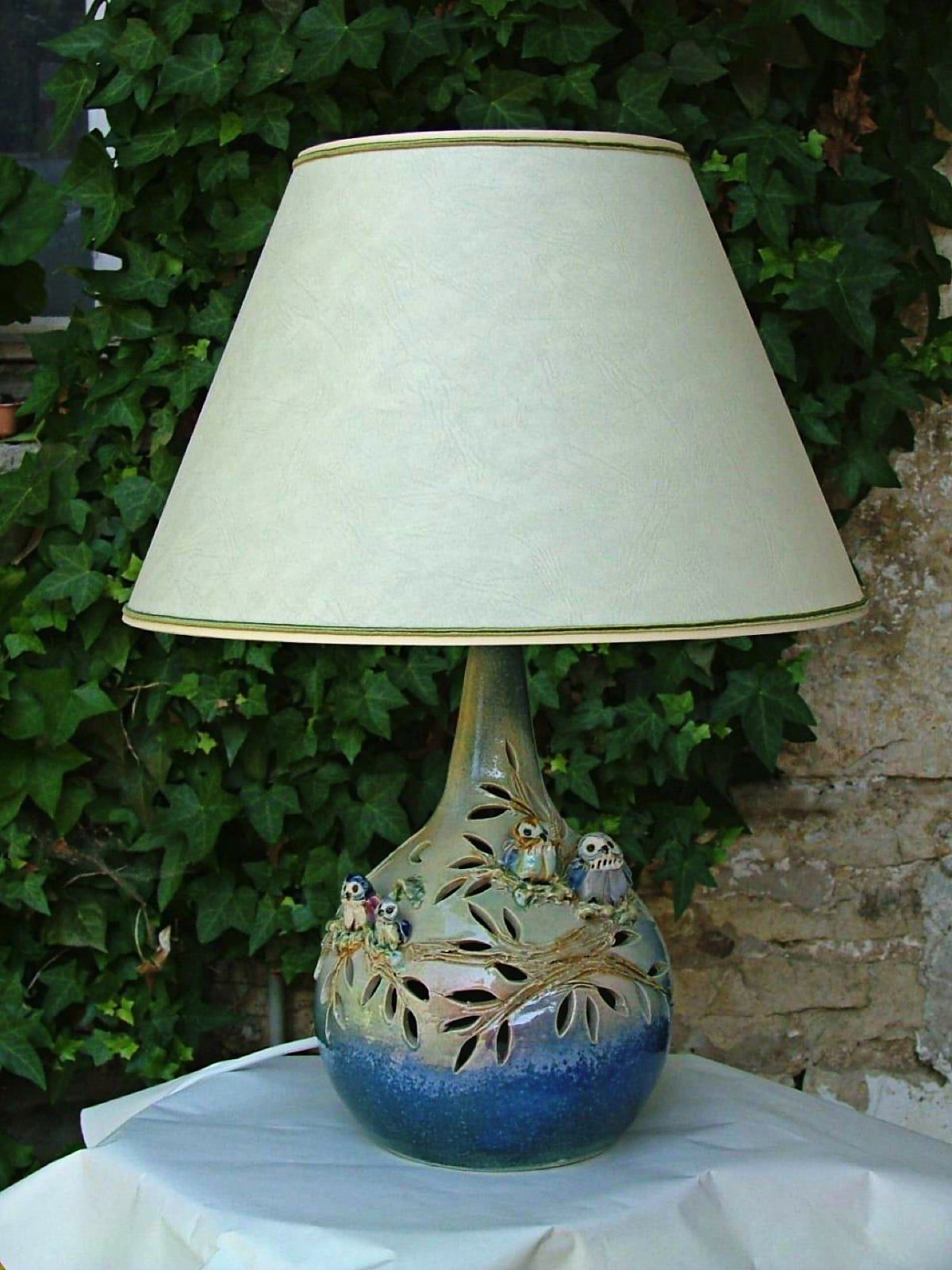 Lampe de chevet chouettes