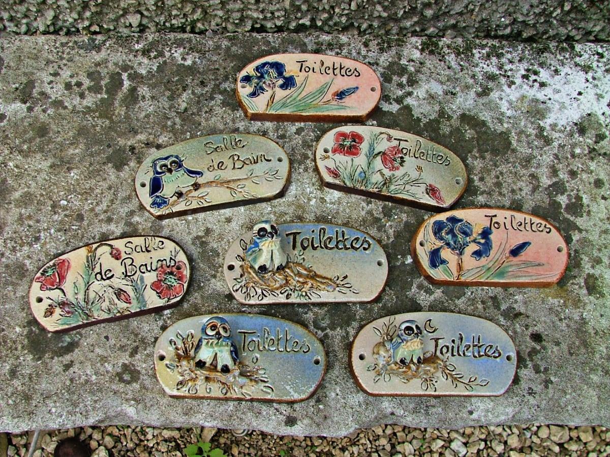 Plaques de porte céramique